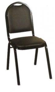 hilton kırmızı ve siyah sandalye